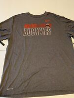 NIKE Dry Ohio State Buckeyes T Shirt Men's Sz XXL CT7268-071 Anti-Odor