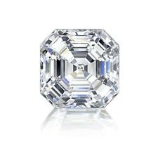 Cubic Zirconia (CZ) 4.5 MM White Asscher Vibrant Loose Stone For Jewelry