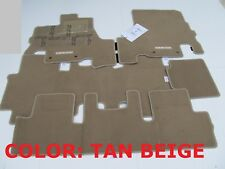 NEW OEM 2011-2014 Nissan Quest Factory Floor Mats 5pcs BEIGE TAN BEIGE TAN BEIGE