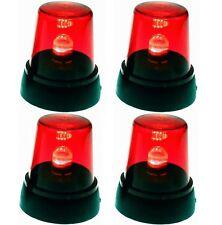 4x LED signal Lampe rouge ronde Lumière Fête Lumière Disco Lampe Discothèque Lampe éclairage de fête
