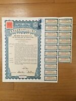 CHINA GOVERNMENT 1938 US$5 GOLD BOND LOAN UNCANCELLED WITH COUPONS