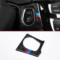 Carbon fiber Innen Zubehör Motor Starter aus Schalter Schutz für BMW F30 F34 GT