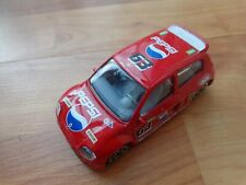 BURAGO 1/43 CLASSIC 'STREET FIRE' YELLOW RENAULT CLIO CUP 98 RED DIECAST CAR