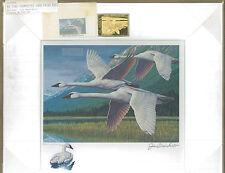ALASKA #4 1988  STATE DUCK STAMP PRINT EXECUTIVE   ED  TRUMPERTER SWANS Reg $750