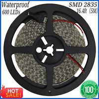 Waterproof 12V 5M 2835 600 SMD Leds LED Strip Light Natural White Tape Lamp New
