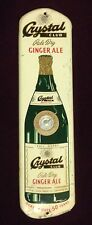 """Vintage Crystal Club Soda Ginger Ale Scranton Pa Advertising Thermometer  27"""""""
