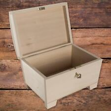Wooden Storage Box with Key Lock Curved Lid | 20 x 14 x 12 cm | Decorative Chest
