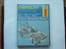 CHRYSLER SUNBEAM 1977-79 Haynes Manual New Old Stock