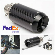 Carbon Fiber+Stainless Motorcycle 51mm Rear Exhaust Muffler Pipe With DB Killer