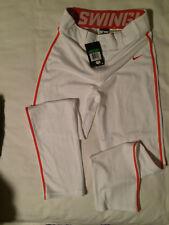 Nike Swingman Dri-FIT Piped Baseball Pants Boys XL White W/Orange Pipping Glove