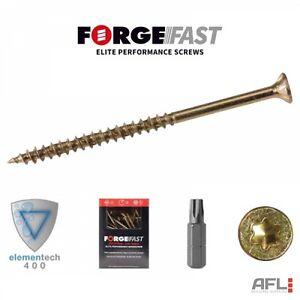 ForgeFast Elite Low Torque Torx Compatible Wood Screws Box 3.0x12mm to 6.0x240mm