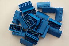 20 Lego Dachsteine Schrägsteine 2x4 blau NEU 3037