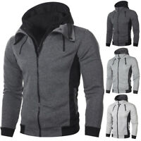Men's Autumn Winter Hoodie Hooded Sweatshirt Coat Jacket Outwear Jumper Sweater