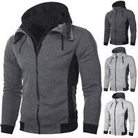 Veste à capuche Homme Polaire Sweat Thermique Doublé Sweat-shirt extérieur Chaud