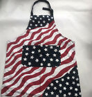 Kitchen Apron American Flag Patriotic 4th July Cook Restaurant One Size Red Blue