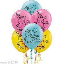 PEPPA PIG LATEX BALLOONS (6) ~ Birthday Party Supplies Decorations Nickelodeon