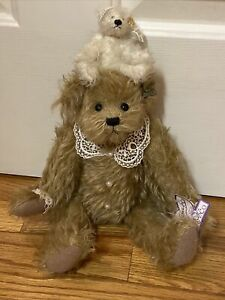 """Annette Funicello 15"""" Collectable Brown Bear W Small Angel Bear"""