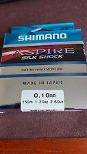 Shimano Aspire Silk Shock Mono Mainline / Hooklength - 150M Spool 2.6lb / .1mm