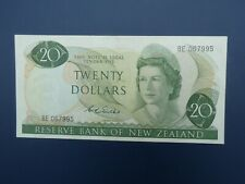 More details for scarce wilks signature 1968-75 new zealand $20 banknote original aef
