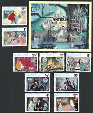 Antigua 1980 Christmas 9v + Souvenir Sheet MNH