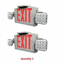 Westgate Xt Cl Rw Em Combo Exit Sign With Emergency Light Red Letters Pk Of 2