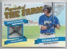 2018 Topps Pro Debut #FOTF-HVR Brendan McKay Fragments of The Farm Gold #d 37/50