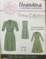 Threaders Crafters Companion Vintage Style Dorothea Dress Sewing Pattern Sz 8-16