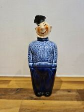 More details for vintage sailor fisherman ceramic hand painted decanter mid century french?