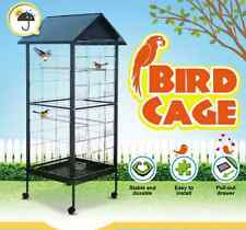 Bird Cage - Large Stand-Alone with Apex Roof & Wheels - 185cm x 75cm x 60.3cm