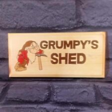 Grumpys Shed - Plaque / Sign - Fathers Day Gift Dad Grandad Garden Workshop 122