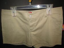 Khaki Cotton Short Shorts by Dickies, Junior Size 13, NWT