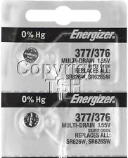 Energizer 377 / 376 Watch Batteries SR626SW 626 0%HG ( 2 PC )