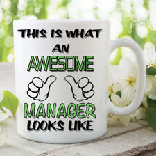 Novelty Mugs This Is What An Awesome Manager Looks Like Coffee Tea Cup WSDMUG793