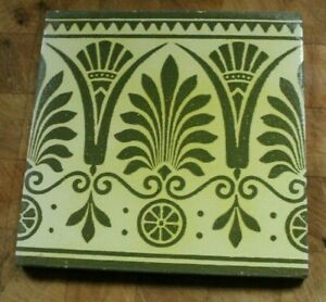 MINTON HOLLINS ANTIQUE GREEN AND CREAM AESTHETIC AFTER OWEN JONES