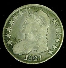 1827 CAPPED BUST SILVER HALF 50c    (9553)