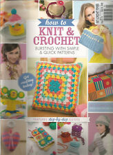 HOW TO KNIT AND CROCHET MAGAZINE #1 BURSTING WITH SIMPLE AND QUICK PATTERNS