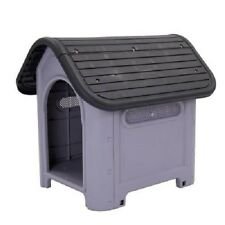 Plastic Dog Kennel Suitable Dogs Cats Both Indoors Outdoors Easy Clean Size 2