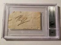 Napoleon Bonaparte Autograph Cut BAS Beckett Authenticated Signed Auto Signature