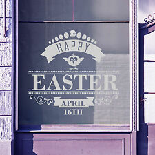 Easter Happy Day Greetings Vinyls Shop Window Display Wall Decals Stickers A400
