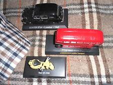 3 Die-Cast Double Decker Bus + London Cab Austin F4 + Vespa 125 1960 Mods Casual