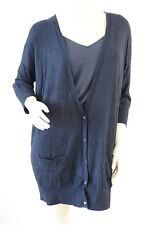 TOPSHOP Black Light Knitwear Boyfriend Cardigan Jumper Top Size 10 12 NEW £32 F4