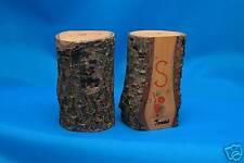 VINTAGE TEXAS SOUVENIR Wooden Salt & Pepper Shakers