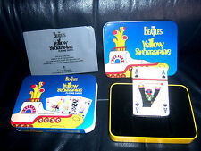 The Beatles OFFICIAL DELUXE TINNED LUXURY BOX YELLOW SUBMARINE PLAYING CARDS !