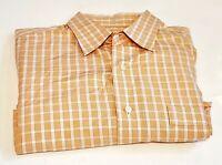 TOMMY BAHAMA MEN'S L/S PLAID BUTTON SHIRT  Orange Size  16 34/35 53-18