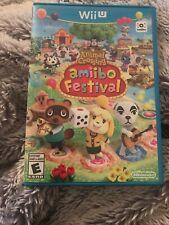 Animal Crossing: Amiibo Festival (Nintendo Wii U, 2015) Case, Game, and Manual!