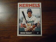 Mike Trout Minor League Cedar Rapids Kernels Rookie Card # 28