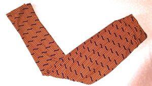 LULAROE OS One Size Orange and Blue Wave Lines Squiggle Leggings Pants NEW!