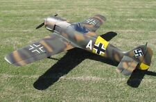 "/échelle 4 Focke Wulf Fw-190A 100"" WS Scratch Build r/c Avion Plans & Patterns"