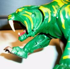 Mattel 2001 Green And Yellow Battle Cat Tiger Toy He-Man Master of the Universe