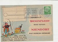 Germany 1957 City of ballbearings & sports cancel bee pic stamps card ref R16328